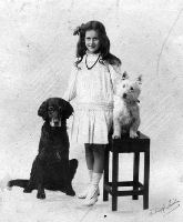 Kay Doxford with family pets